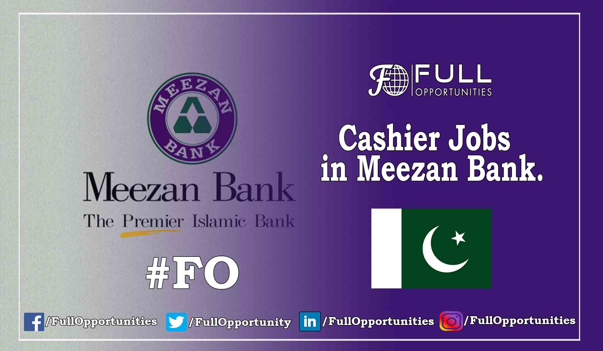 Cashier Jobs in Meezan Bank