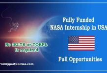 Fully Funded NASA Internship in USA