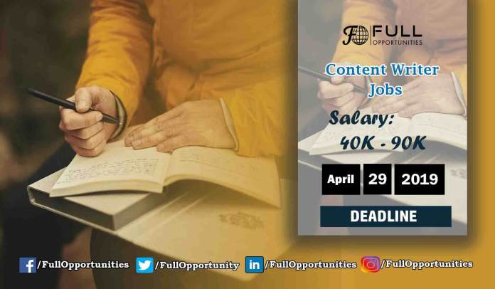 Content Writer Jobs in Pakistan
