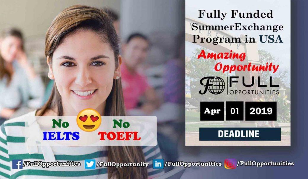 Summer Exchange Program in America - No IELTS and No TOEFL