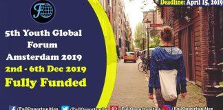 5th Youth Global Forum Amsterdam 2019