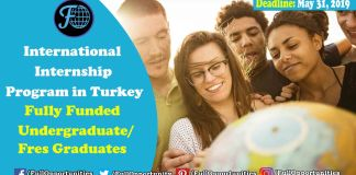 Fully Funded Internship International Internship Program in Turkey