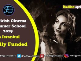 Turkish Cinema Summer School 2019 in Istanbul