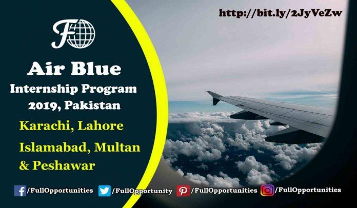 Air Blue Internship Program 2019, Pakistan