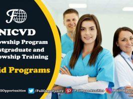 NICVD Fellowship Program 2019 - Paid Opportunity
