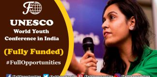 UNESCO World Youth Conference 2019 in India (Fully Funded)
