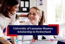 University of Lausanne Masters Scholarship