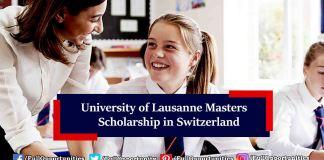 University of Lausanne Masters Scholarship