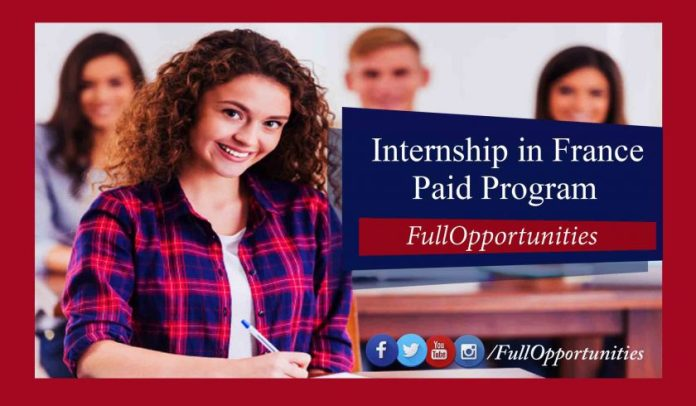 Paid Internship in France