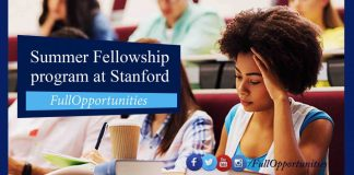 Summer Fellowship program at Stanford