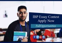 IBP Essay Competition