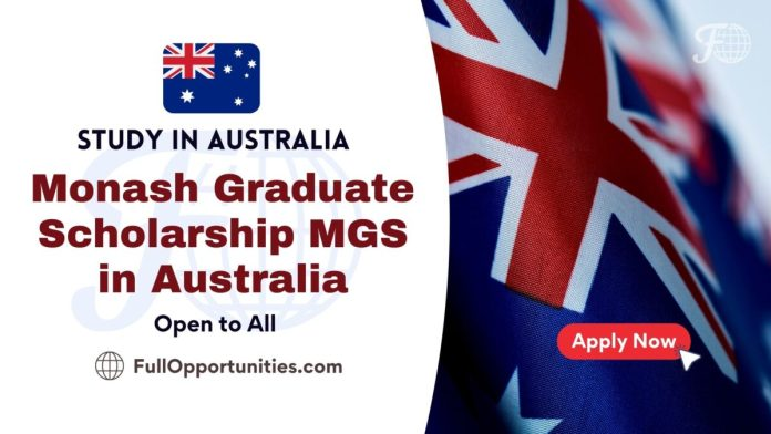 Monash Graduate Scholarship MGS in Australia