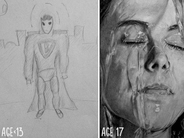 Прогресс в рисовании, который поражает воображение ...