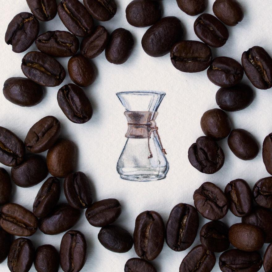 10. Стеклянная кофеварка.