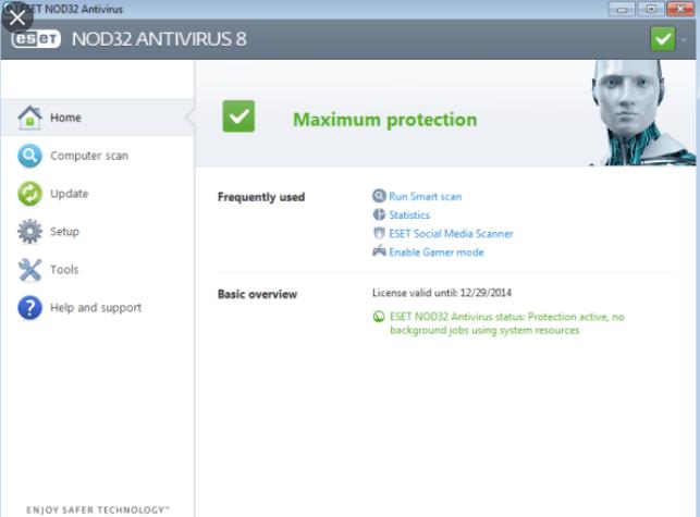 ESET NOD32 Antivirus Crack plus license key Windows 7, 8, 8.1