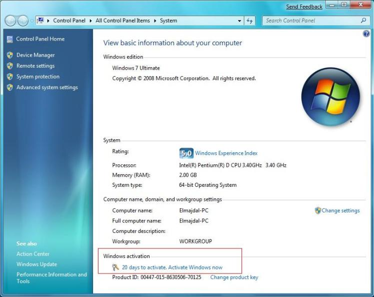 download remove wga windows 7 ultimate 64 bits