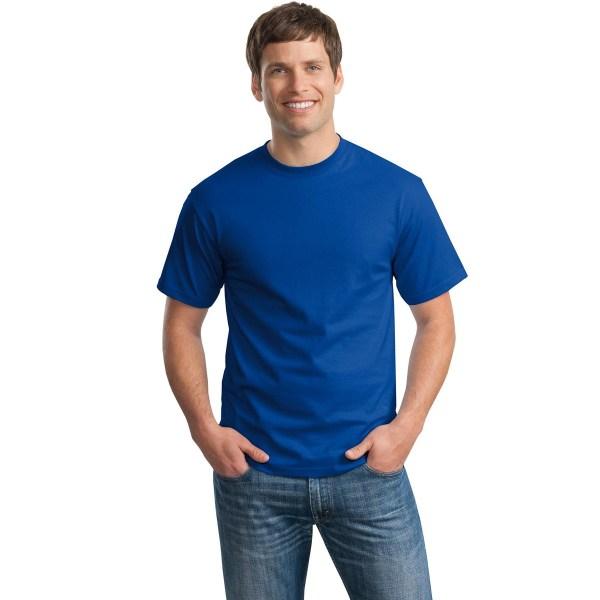 Hanes 5250 Tagless Cotton T-Shirt - Deep Royal ...