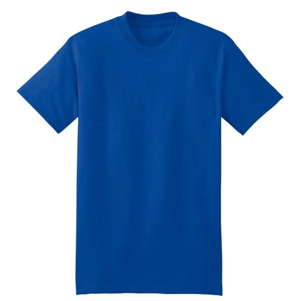 Hanes 5180 Beefy-T Cotton T-Shirt - Deep Royal ...
