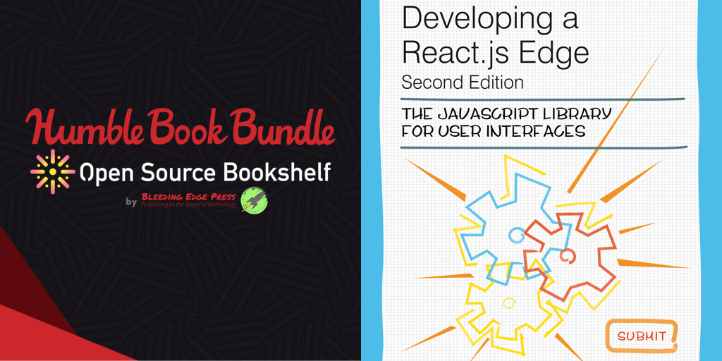 Name your own price for a bundle of open source ebookse like Developing a React.js Edge, Developing an Electron Edge, Developing a gulp Edge, and more!