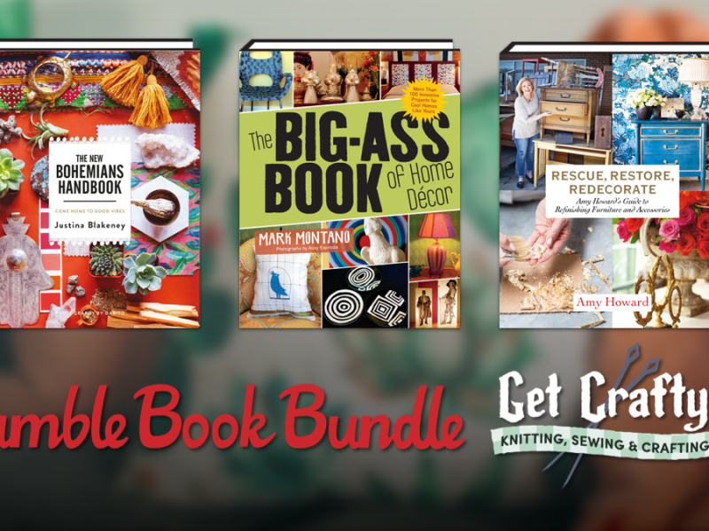 Pay what you want for The Humble Book Bundle: Get Crafty: Knitting, Sewing & Crafting by ABRAMS!