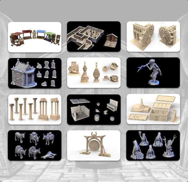 Humble 3D Printable Dungeons & Dragon Lairs Terrain Bundle