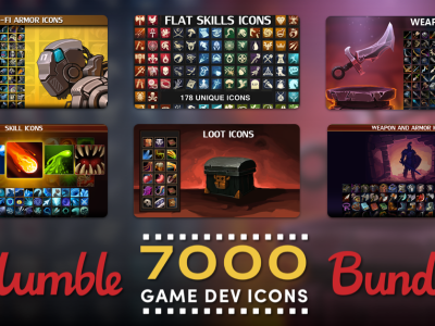 Create your own PC or mobile games, software, applications, websites, and more with the Humble 7000 Game Dev ICONS Bundle - Just $1!