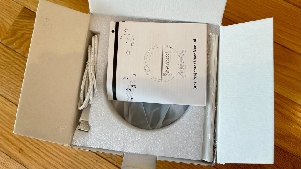 Looking inside the box.