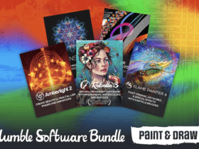 Get arty with software like Rebelle 3.2.5, Amberlight 2, and Flame Painter 4 in Humble Software Bundle Paint & Draw