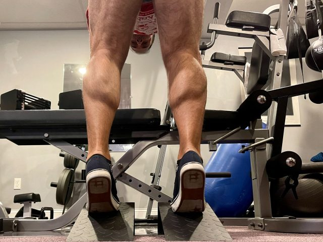 My calves. I will continue to work hard to improve them. These wedges should help.