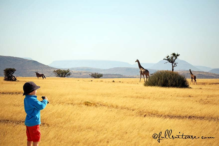 traveling with young children in Africa