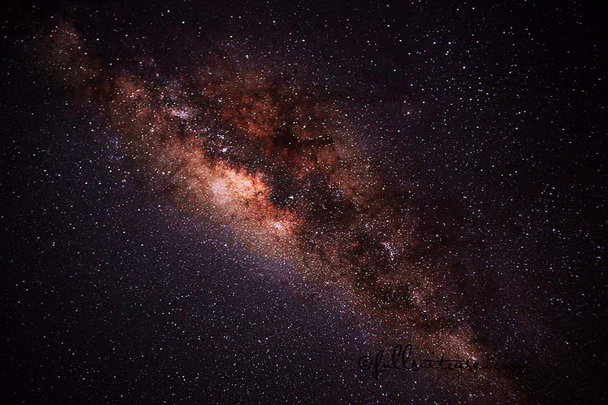 Milky way stars at night in Namibia
