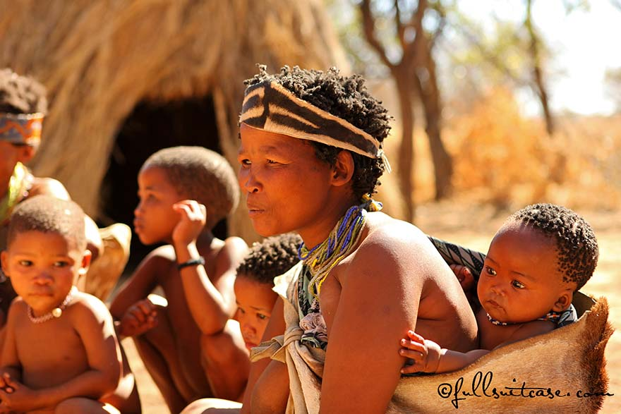 Indigenous people of San tribe in Namibia
