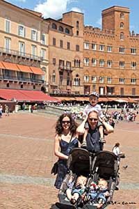 Family trip in Tuscany Italy