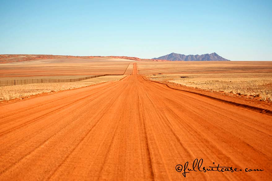 Namibian gravel roads are safe to drive individually