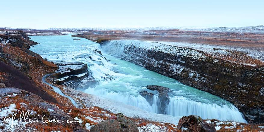 Gulfoss waterfall Golden Circle Iceland