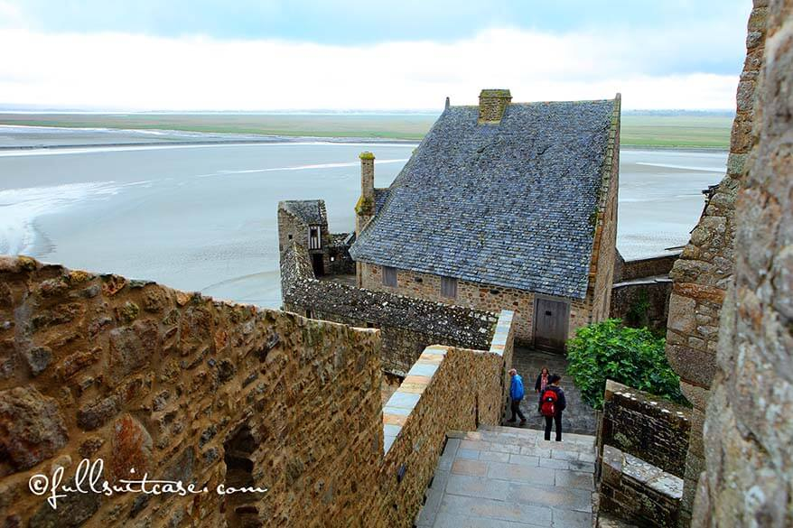 The ramparts of Mont Saint Michel