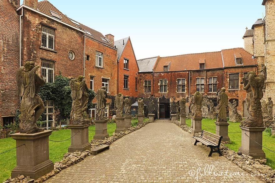 St Paul's church garden Antwerp