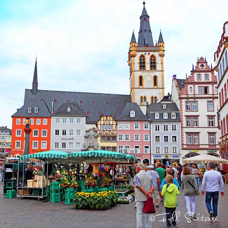 Hauptmarkt - Market Square in Trier Germany
