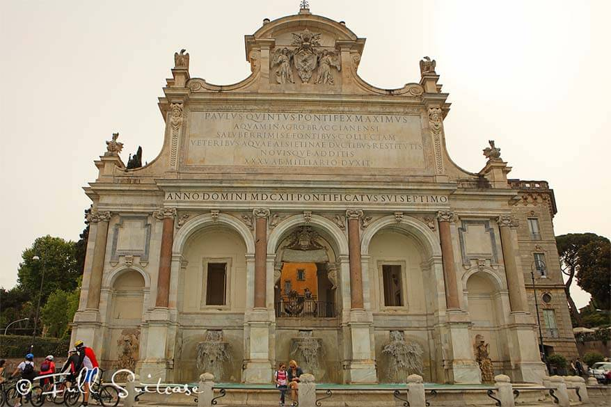 Aqua Paola Fountain at Gianicolo Rome