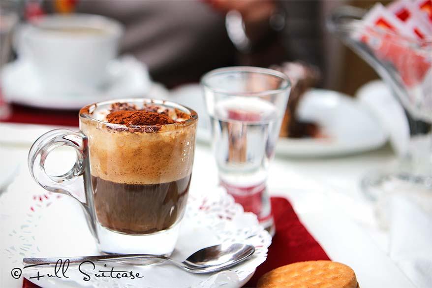 Italian caffe marocchino