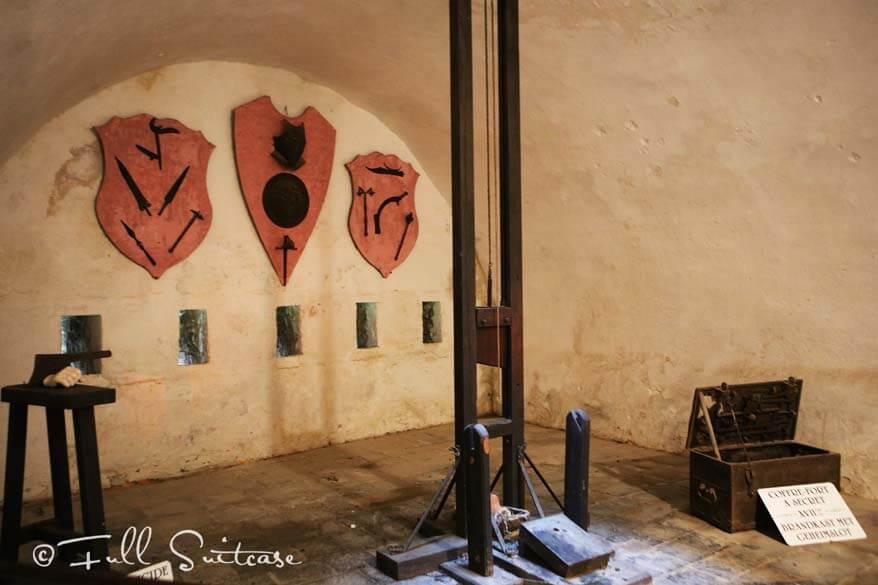 Dinant Citadel guillotine room