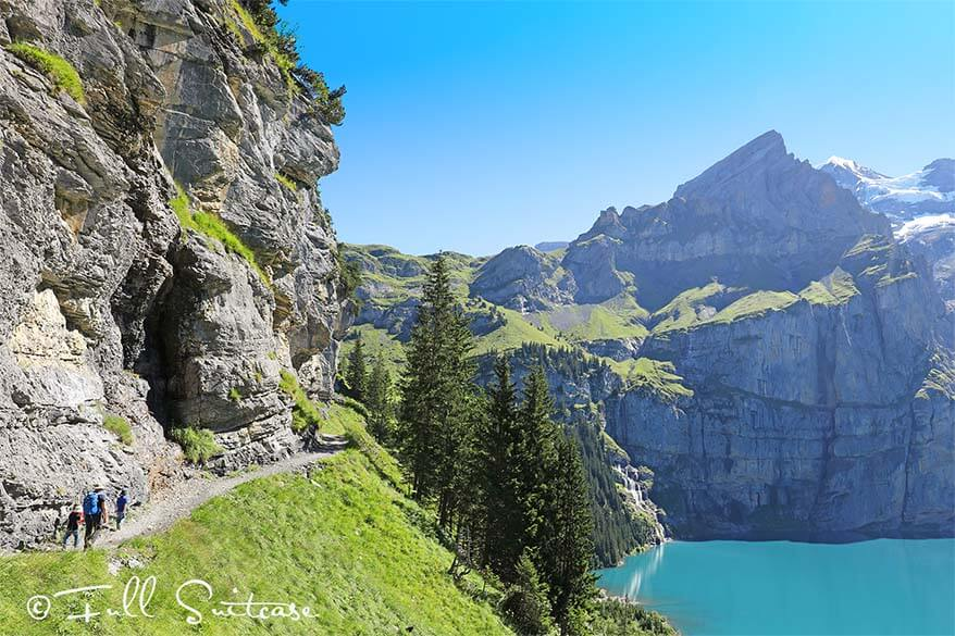 Hiking from Oeschinensee to Unterbergli