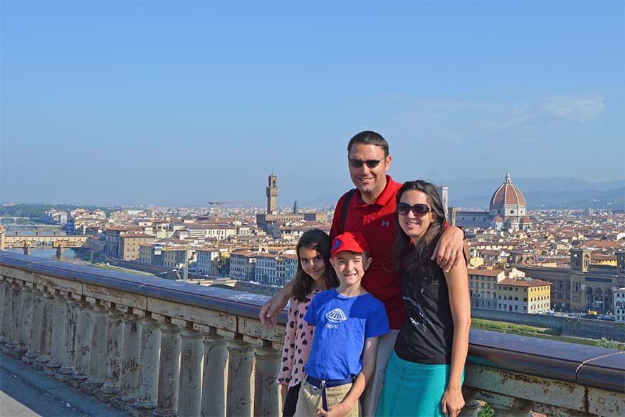 Florence Italy is a great travel destination for families