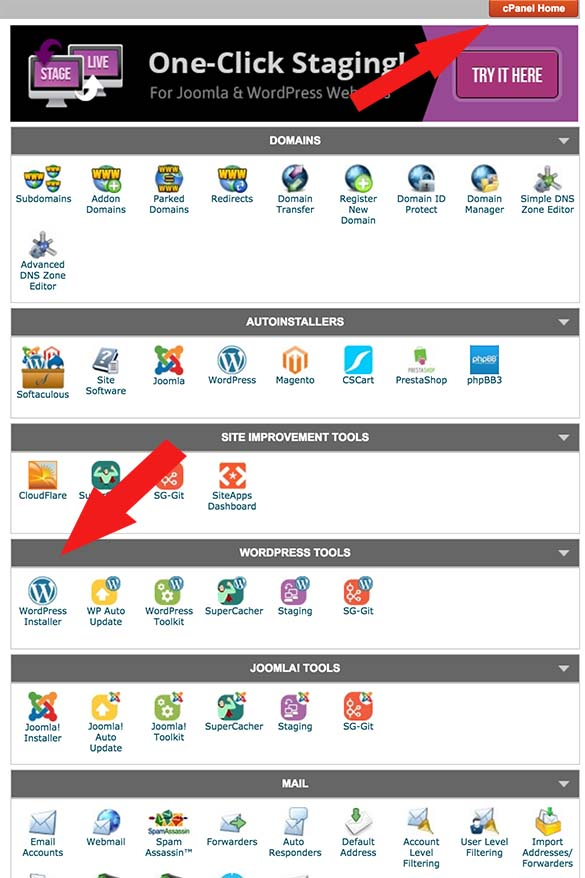 How to install WordPress through cPanel