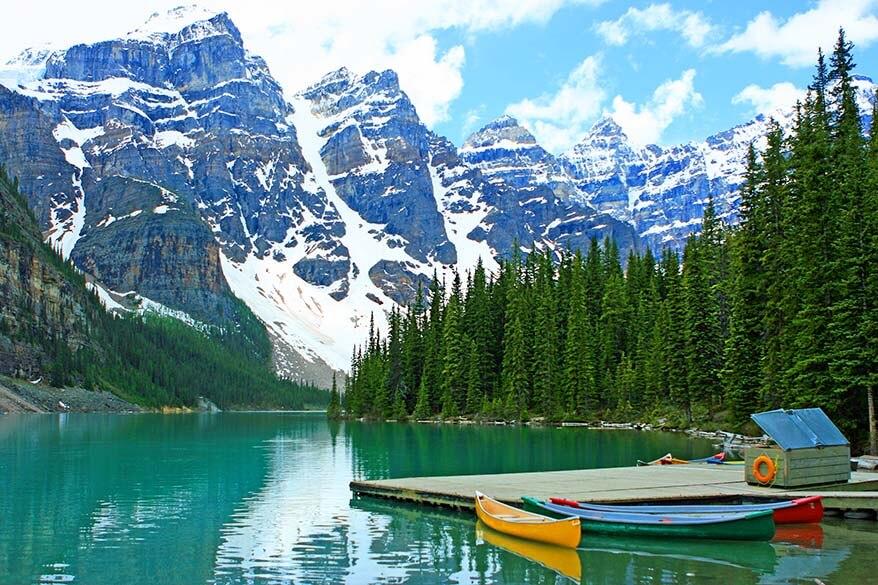 Lake Moraine in Canada