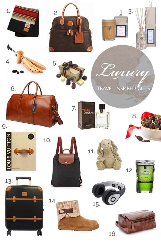 Luxury travel gifts for him and her. You cannot go wrong with these great luxury gifts for your loved ones!