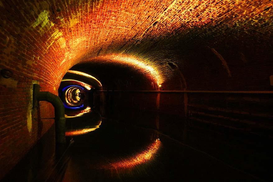 De Ruien underground canals in Antwerp Belgium