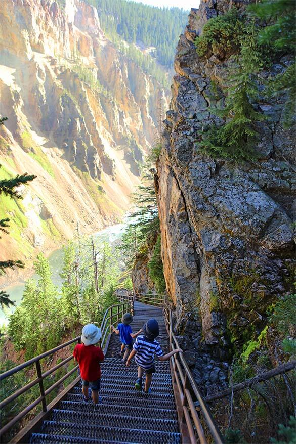 Uncle Tom's Trail Yellowstone Canyon
