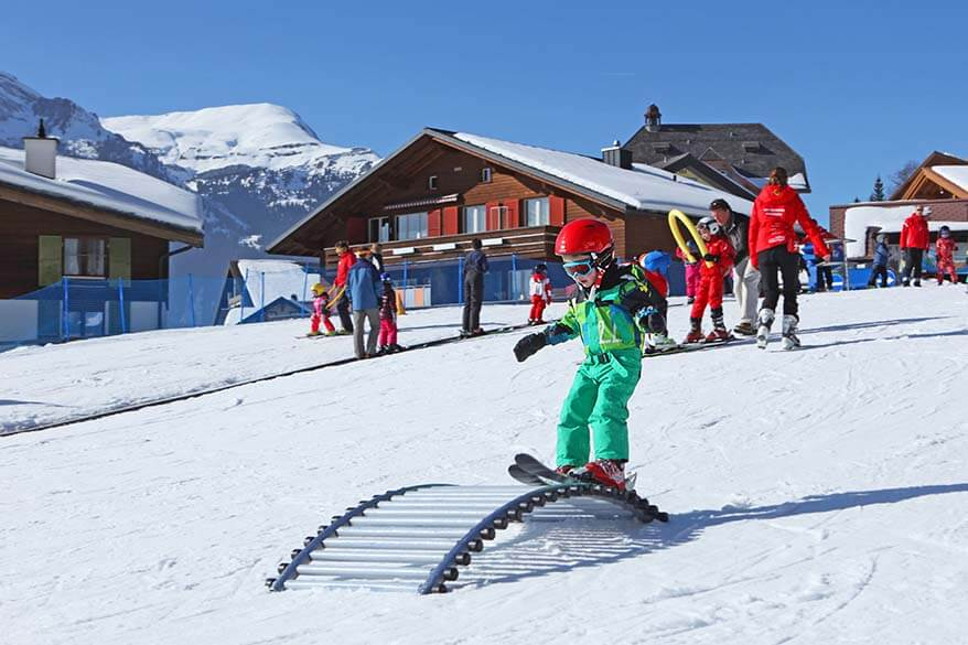 Affordable skiing in Switzerland with a family is possible