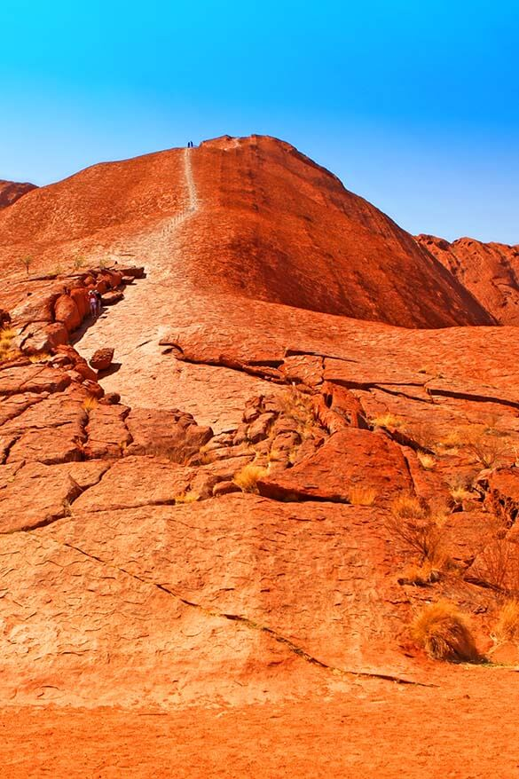 Climbing the Ayers Rock Australia
